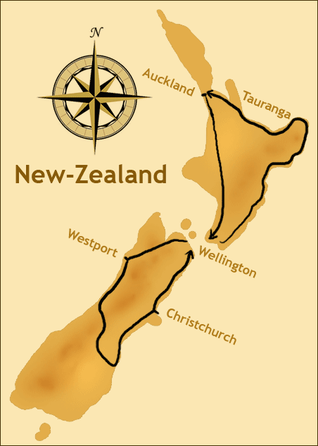 Map New-Zealand
